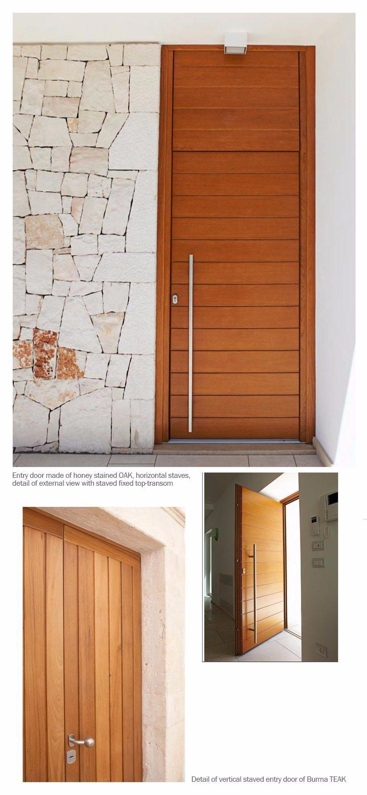 Smart Expo American Design Solid Red Oak Wood Interior Door Round