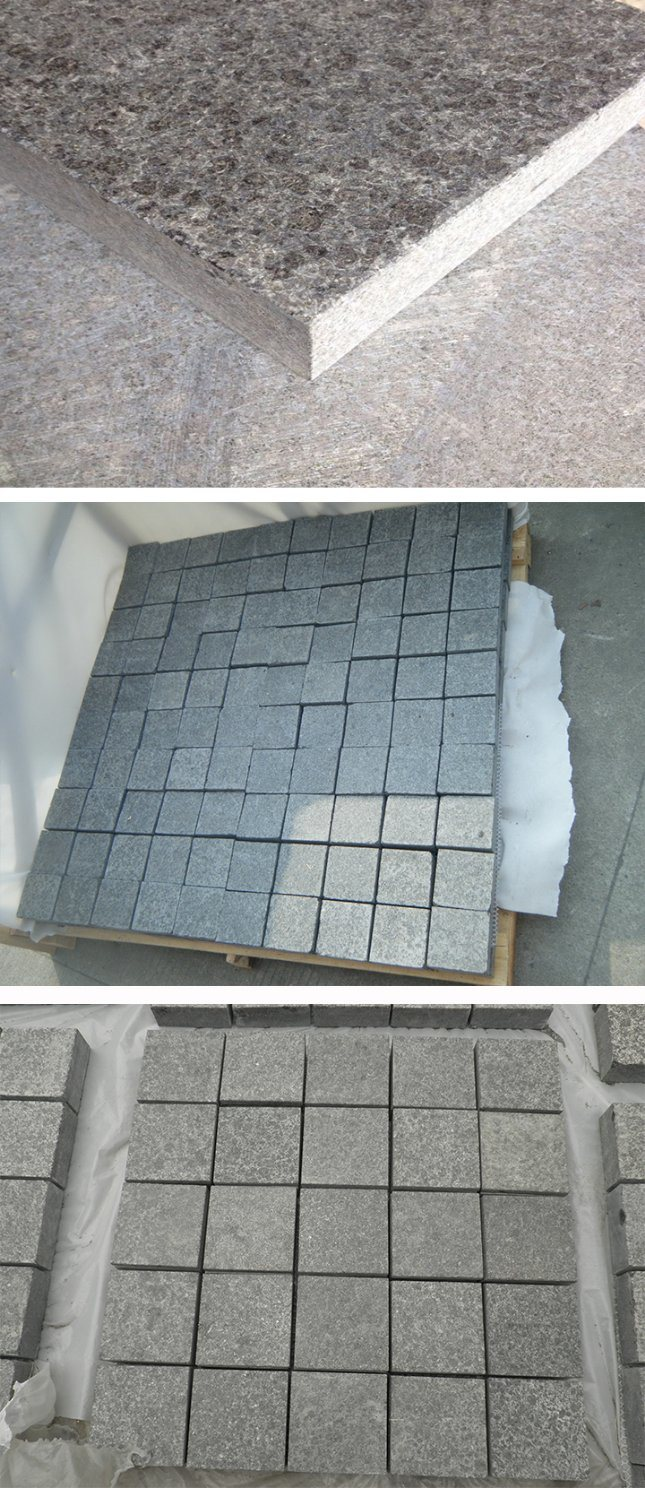 Cheap Chinese Flamed and Polished G684 Black Granite Flooring Tile ...