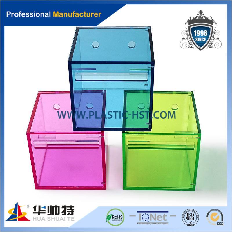 Una variedad de colores y estilos de tejido acrílico Box /Cajas de ...