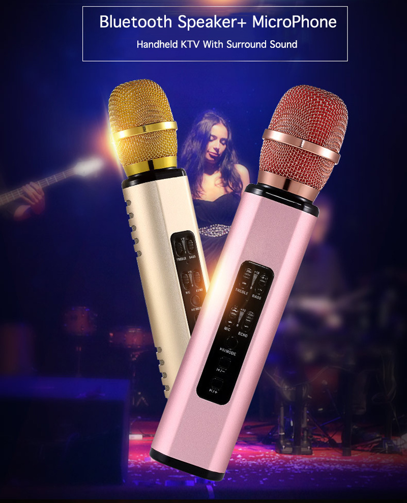 K6 Wireless Microphone Condenser Karaoke Microfone Record Music Mic Hifi Speaker Sing A Song 5 Pickup New Upgrade Big Voice Without Distortion 6 Built In High Capacity 2600mah Battery Long Standby Experience