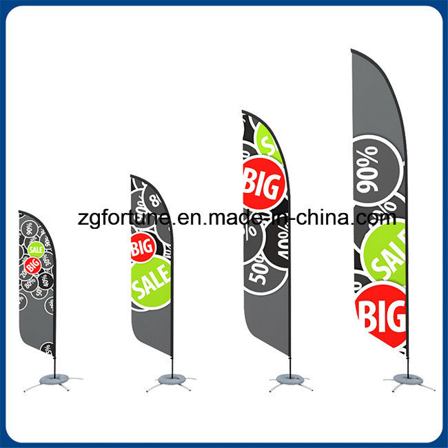 [Hot Item] Factory Price Outdoor Promotion Custom Advertising Flying Banner  Feather Flag Beach Flag