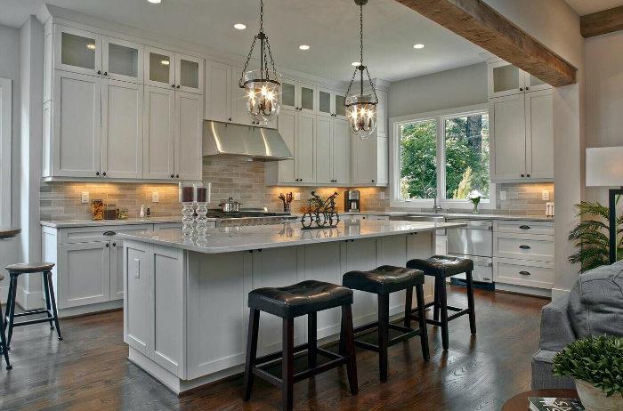 Agitador blanco puertas de madera maciza estilo kitchen cabinet ...