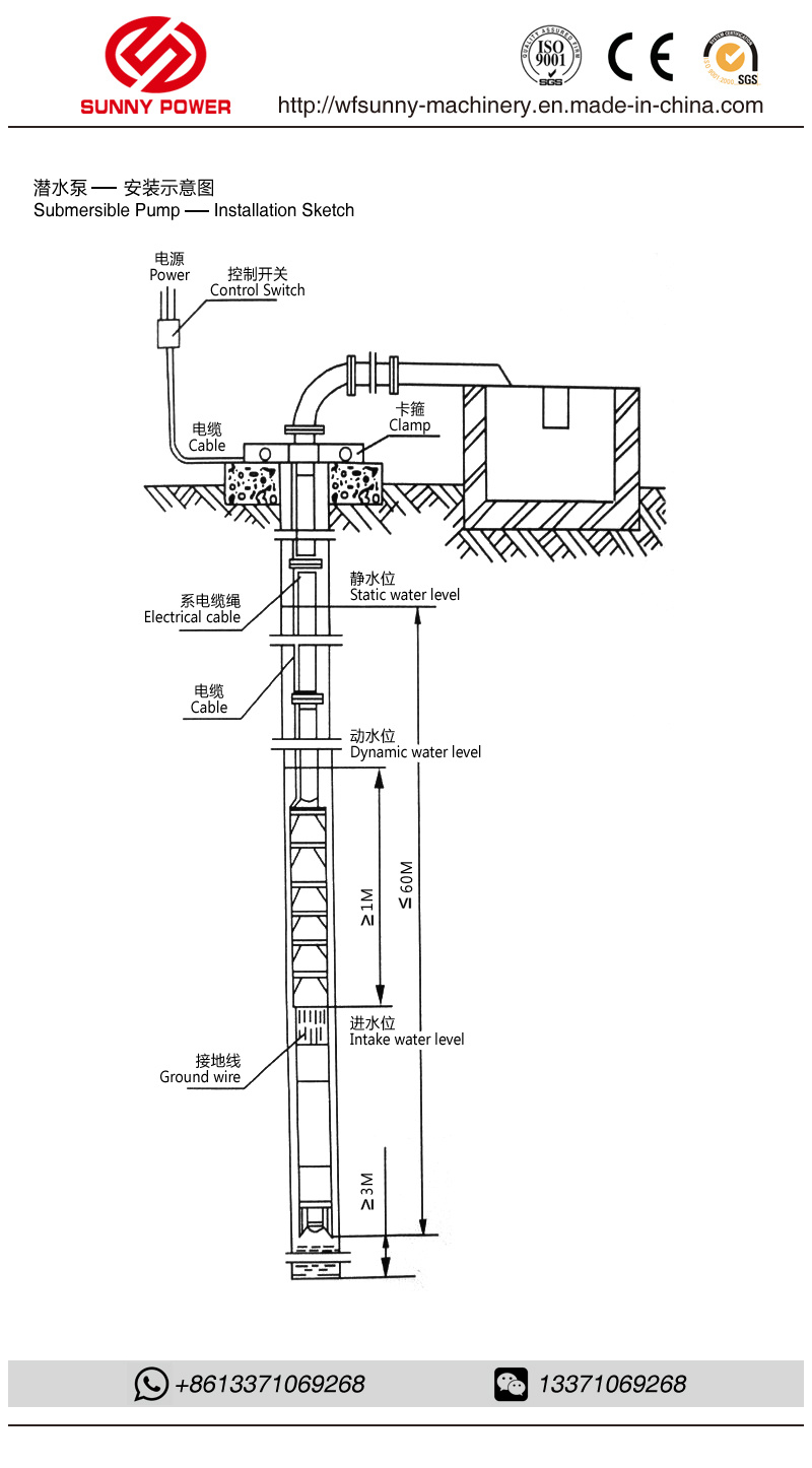 Electric Submersible Pump Single Stage Multistage Centrifugal Wiring Diagram The Motor Has Overheat Protector When It Is Overheated Warming Will Be Given Our Stop Workingautomatically