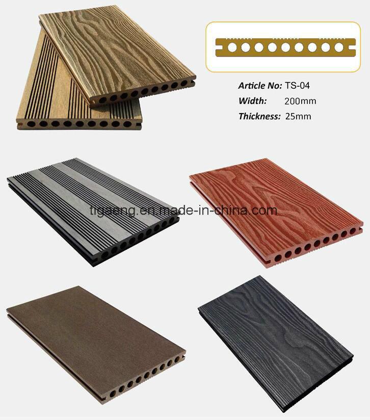 Panneau ext rieur du decking wpc planche compos e du bois for Plancher exterieur plastique