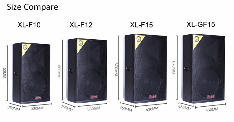XL-GF15 15-Inch 400W-800W Two-Way Two-Unit Full Frequency Professional Stage Equipment Speaker