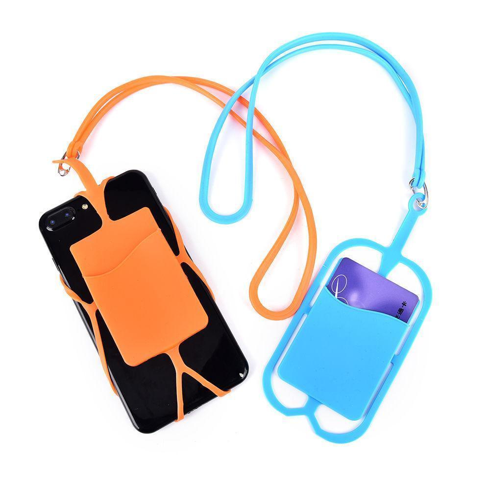 sale retailer 5f213 4dedb [Hot Item] Smart Cell Phone Lanyard Case Cover Credit Card Holder Silicone  Necklace Strap