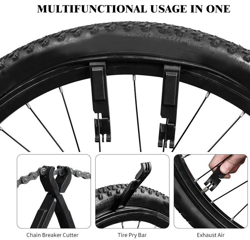2pcs Bicycle Mountain Bike Tire Levers Plastic Chain Pliers Repair Tool