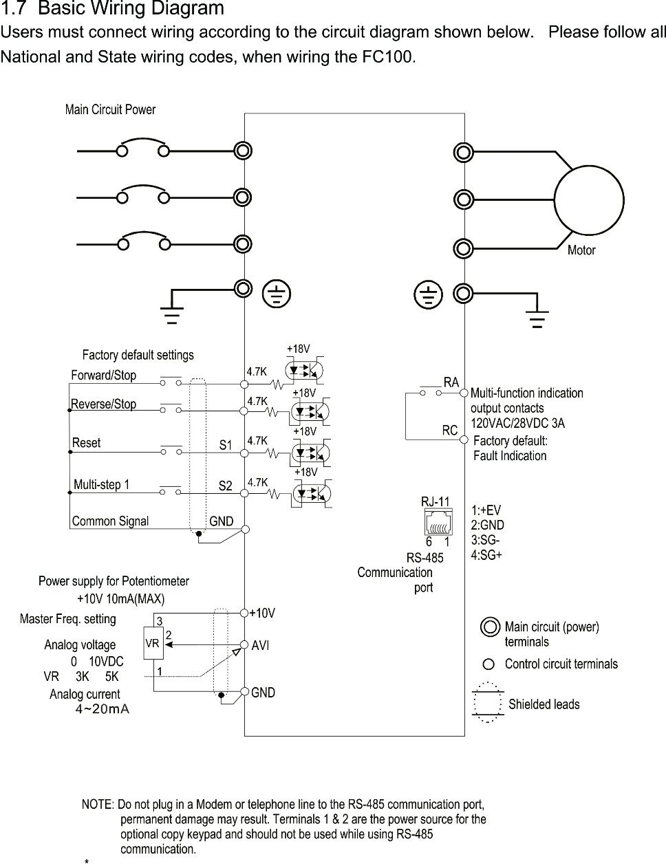 Jansoncontrols Ac Motor Speed Controller Variable Frequency Drive Electric Wiring Diagram Fc100 In Multistage Case