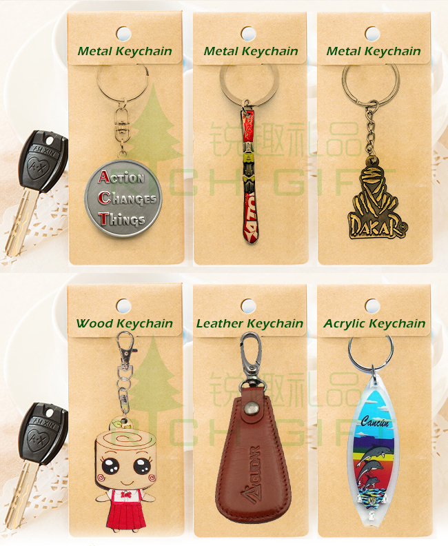Promotional Wholesale Custom Logo Metal Keychain /Leather Keychain/PVC Key Chain