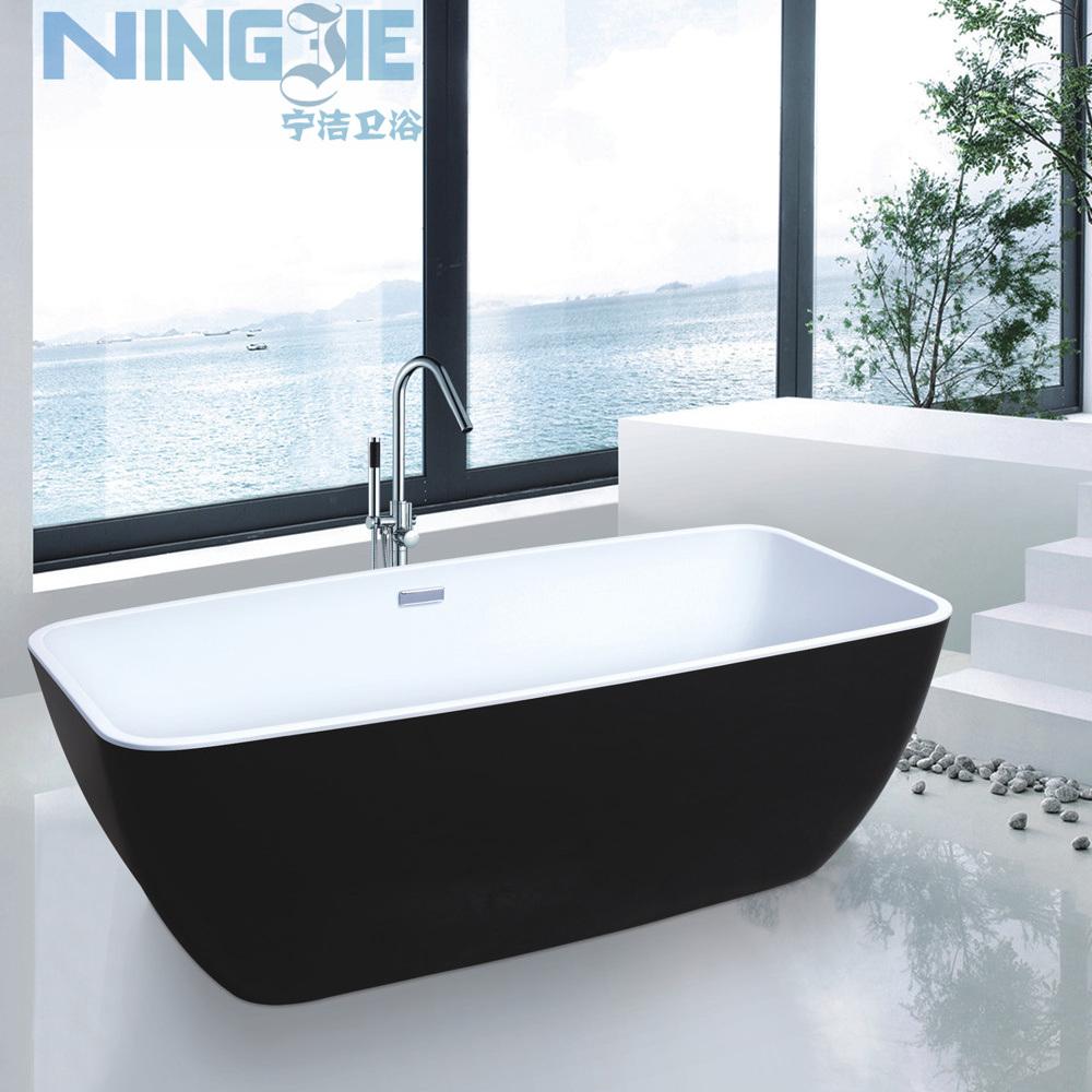Freestanding Bath Tub One Piece Acrylic Bathtub (9008B) - China ...