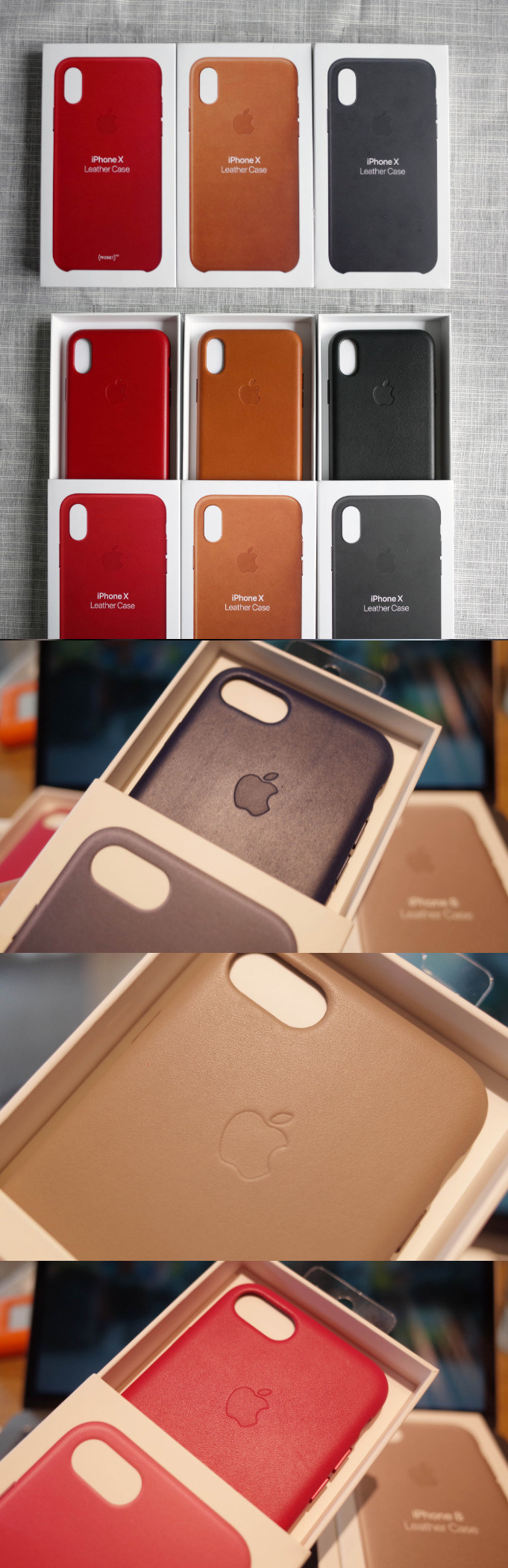 Genuine Leather Mobile Phone Leather Case for iPhone 6-X