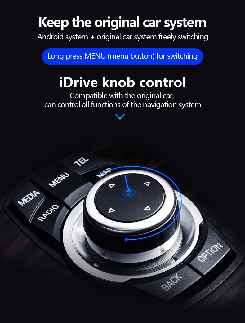 Carplay Anti-Glare Android 8 0 Car Stereo for BMW 5 Series