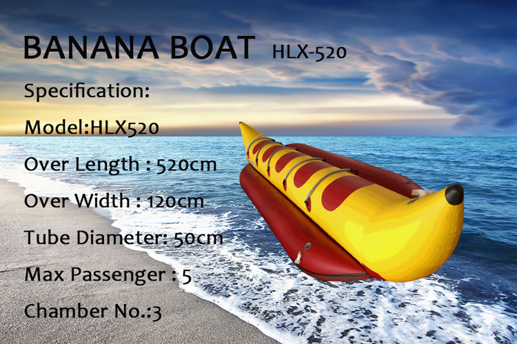 Inflatable Banana Boat PVC or Hypalon Material