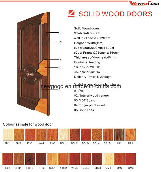 Solid Wooden Interior Door, Fire Rated Wooden Door, Natural Wood Veneered Fire Rated Wooden Doors