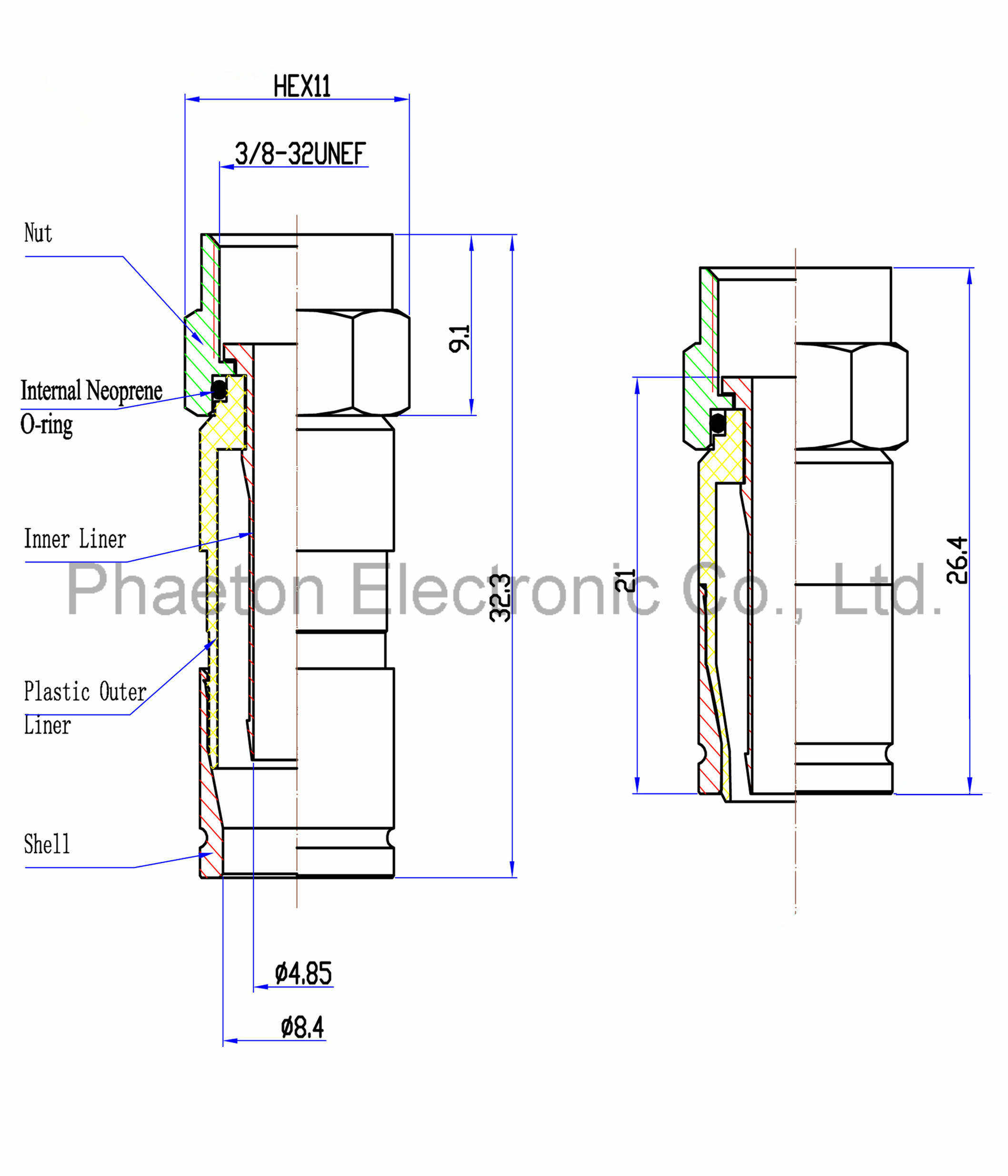 Rg6 Rg11 Compression Rf F Cable Connector For Coaxial China Coax Schematic Drawing
