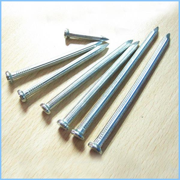 Hard zinc plated steel clavo de cemento albañilería