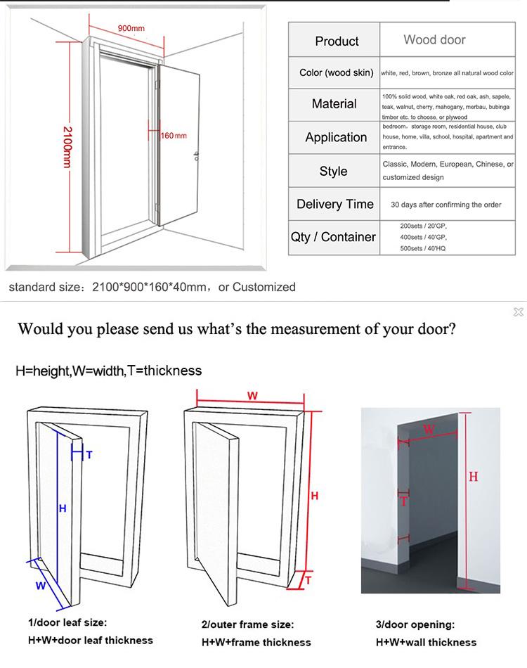Swing Open Style And Entry Doors Type Interior Wood Door Models