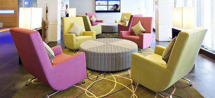 Acento rosa Sillas Sillones Sofá muebles para el Lobby del Hotel 5 ...
