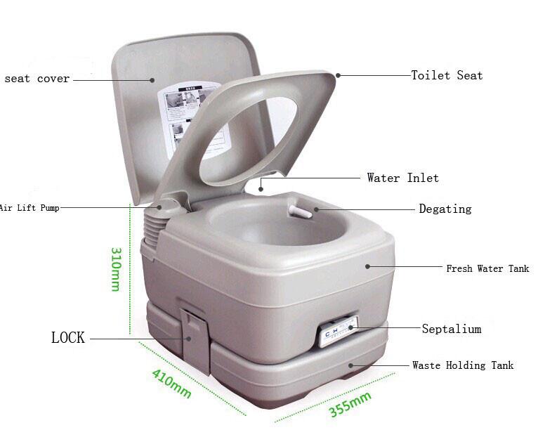 20L 24L Plastic Portable Toilet HDPE Toilet - China Portable Toilet ...