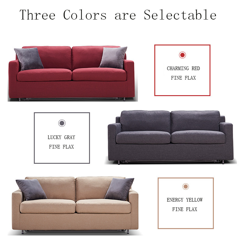 Multifunctional Living Room Modern Furniture Fold out Leisure Fabric Sofa Bed