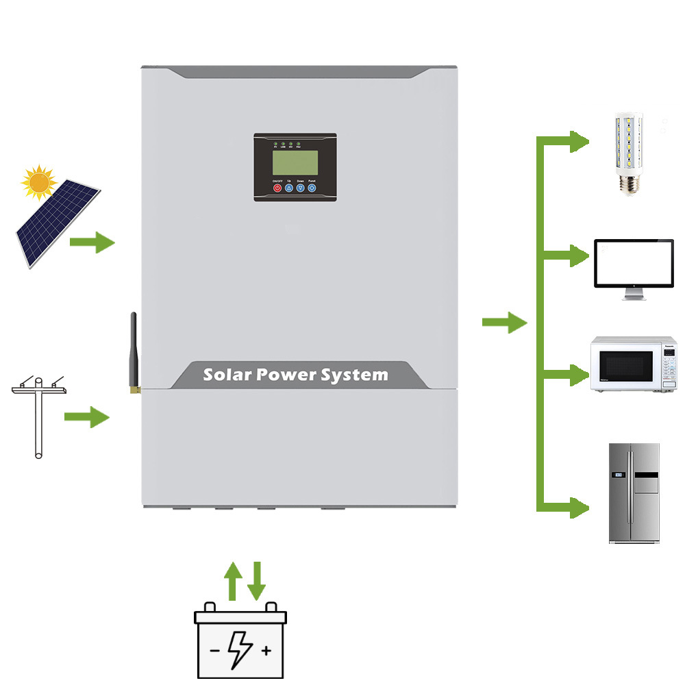 5kw Hybrid Solar Inverter with Built in MPPT Controller