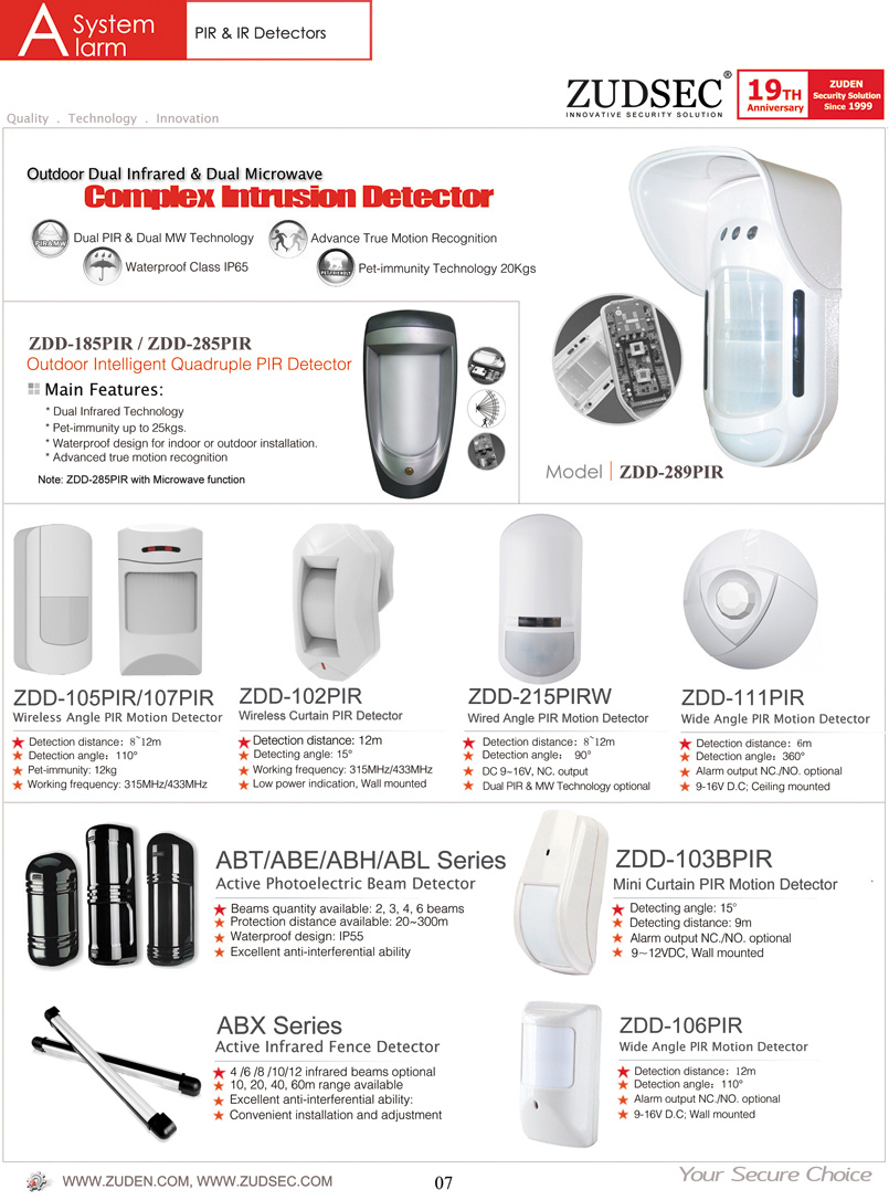 Pir Infrared Motion Sensor For Home Security System China Based Related Products