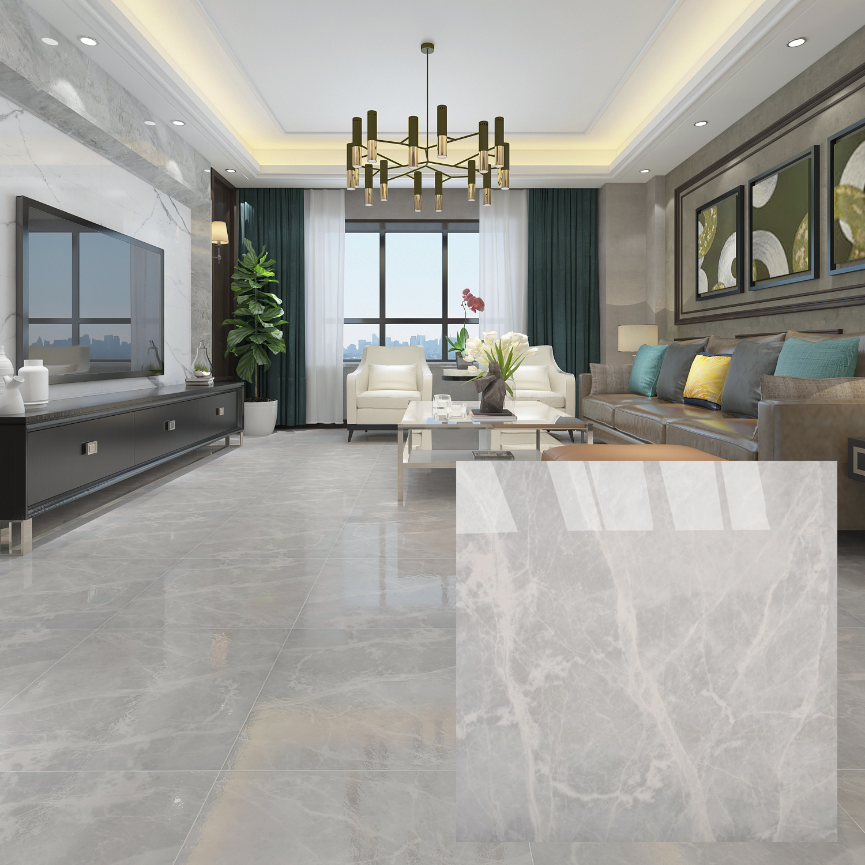 Foshan Manufacturer Mitte Gray Glazed Porcelain Floor Tile   China ...