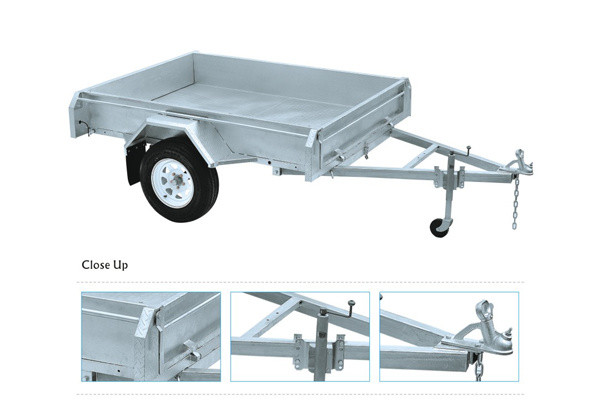 Hot Dipped Galvanized Box Trailer with 600mm Cage with Winch