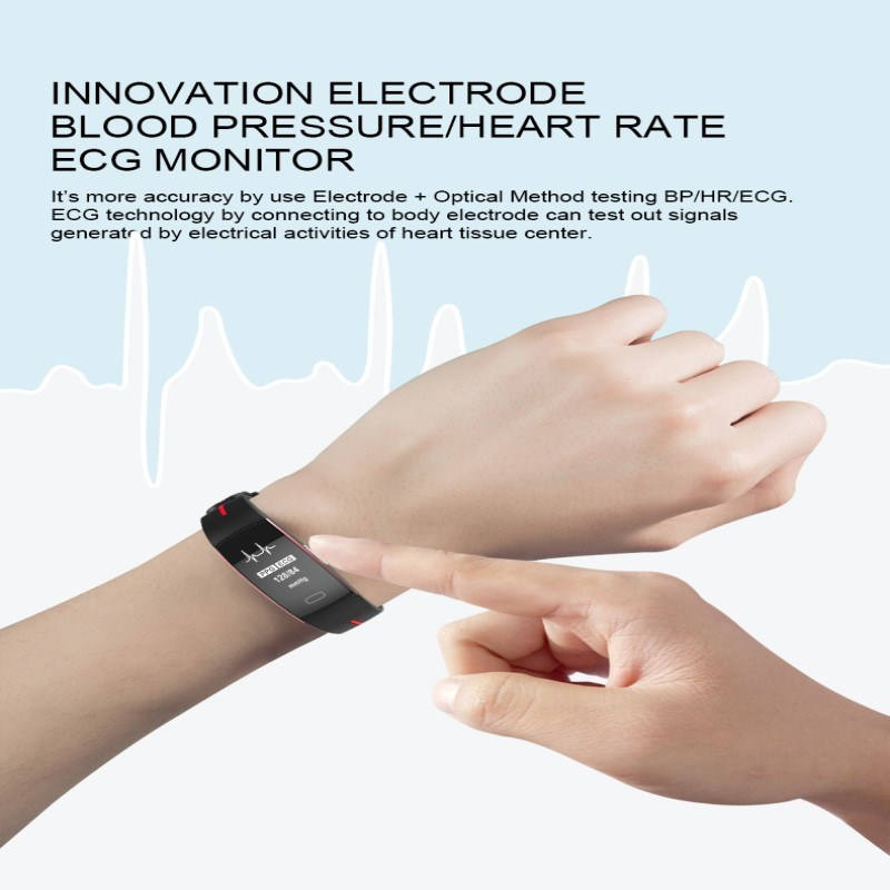 [Hot Item] Hembeer P3 Smart Band ECG Monitor Blood Pressure Watch Real-Time  Heart Rate Sport Fitness Tracker Smart Bracelet for Ios Android