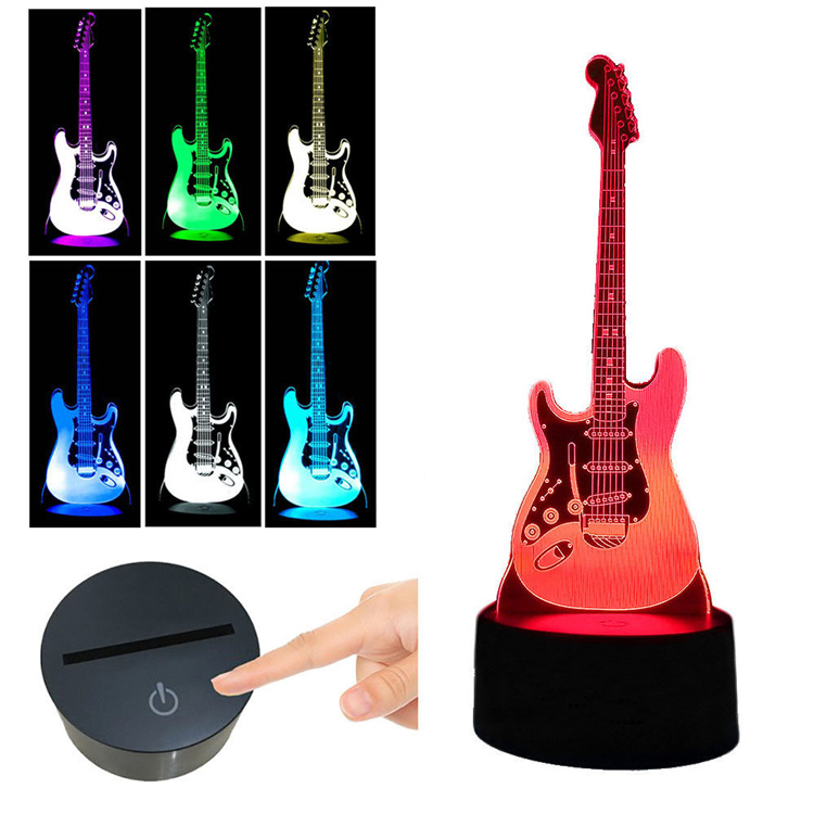 Guitar lamp (3D illusion lamp)- guitarmetrics