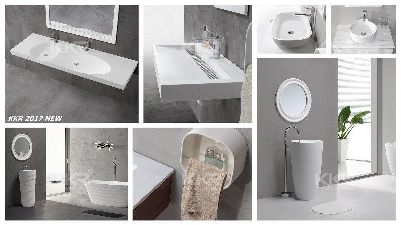 Dise o moderno ba o de piedra de resina de italia de la for International decor surfaces