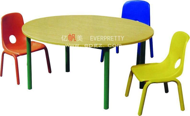 Escuela de párvulos muebles niños mesa de plástico con silla bebé ...