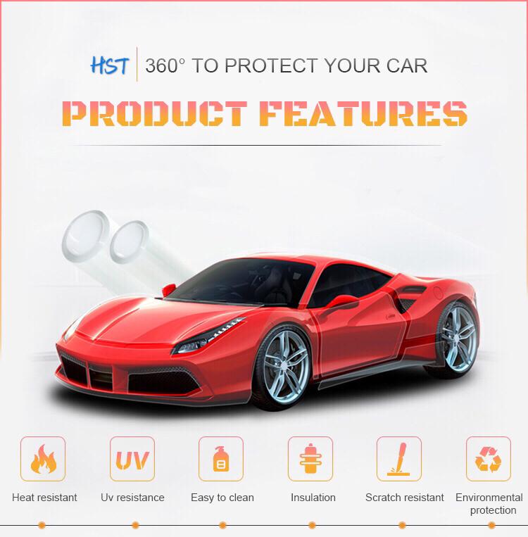 3 Layers Transparent Nano Ceramic Coating Tph Ppf Car Paint Protective Film