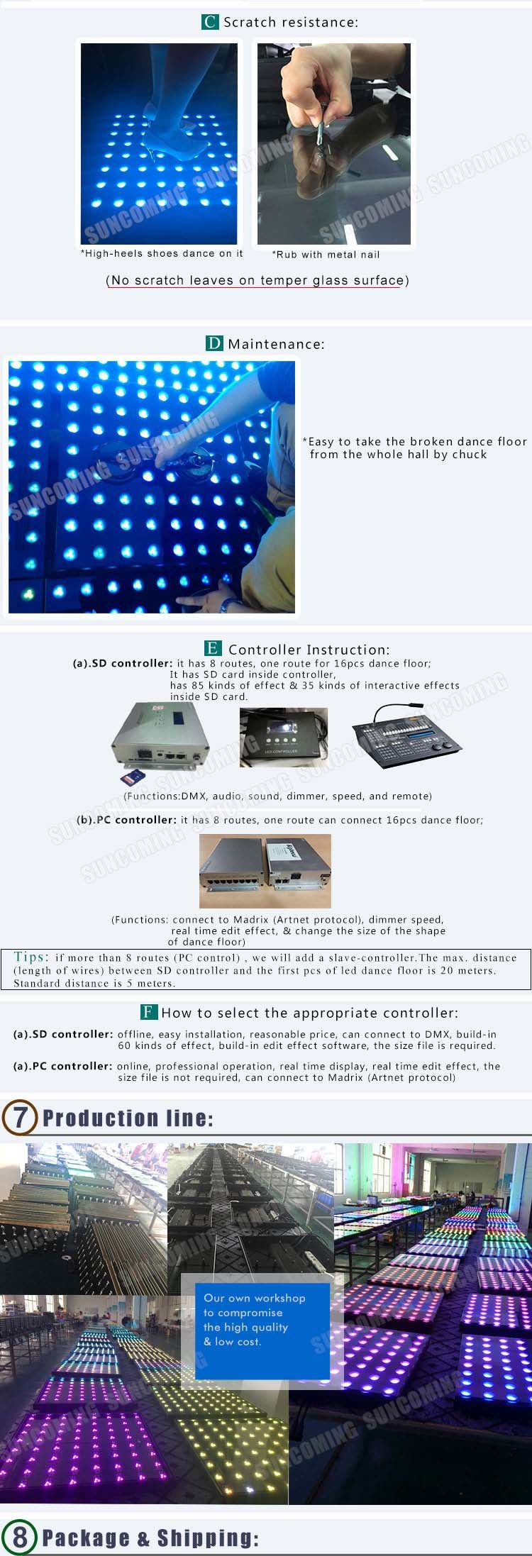 Tempered glass led interactive dance floor home china led dance to fix the dance floors both easy install and disassemble no need of professional workers or even hiring a labor you can do it by yourself solutioingenieria Choice Image