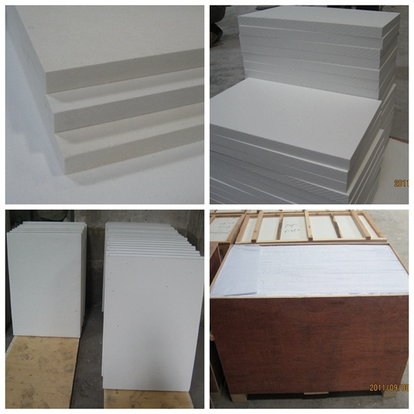 Fireproof Insulation For Chimney : 中国の暖炉によって使用されるセラミックファイバの耐火性のインシュレーション・ボード 中国の暖炉によって使用される