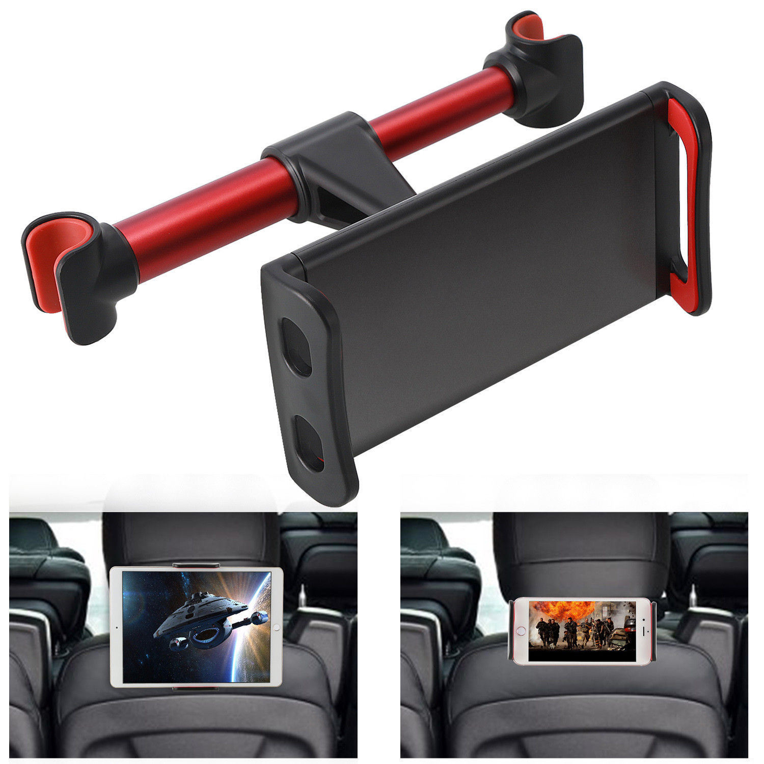 Adjustable Car Seat Headrest Mount Holder for iPad Mini Tablet GPS Phone