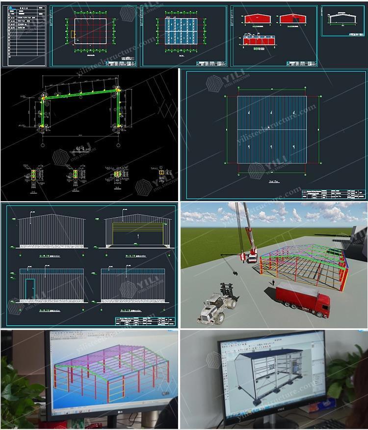 Pre Engineered Design Steel Structure Building Prefabricated Warehouse/ Workshop