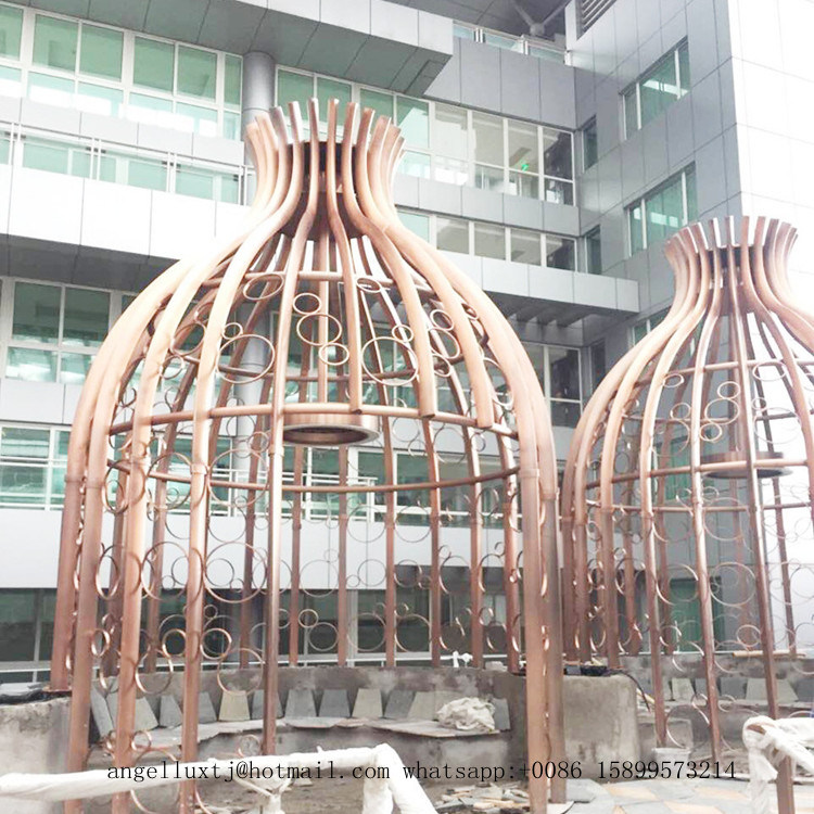Pabellón grande de metal marco metálico de acero inoxidable ...