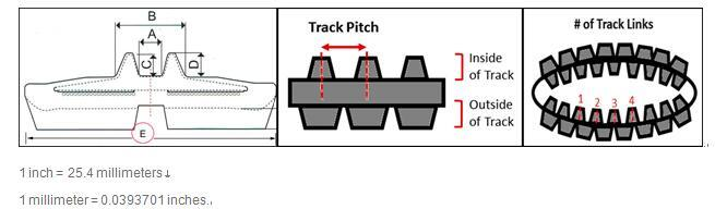 Excavator Tracks Rubber Tracks (250*48.5k)