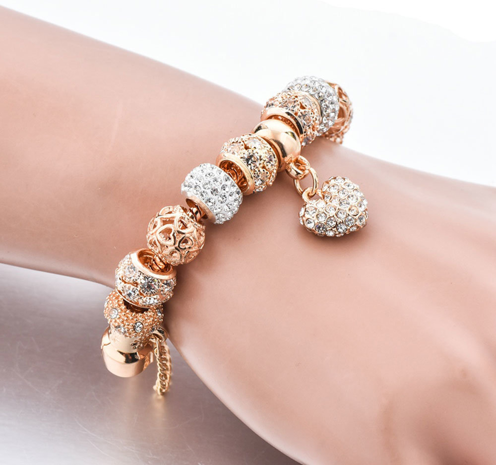 Vintage Designer Austrian Rhinestones Gold Plated Tree Of Life Charm Bracelets Popcorn Chain Jewelry For Women Wholesale China Gold Plated Bracelet And Bracelet Gold Plated Price Made In China Com