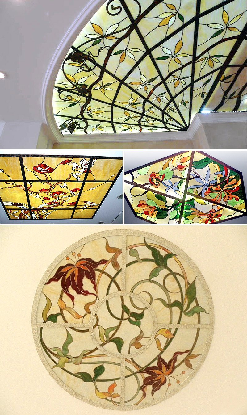 Home Wall Decorations Materials Italian Design Stained Glass Art ...
