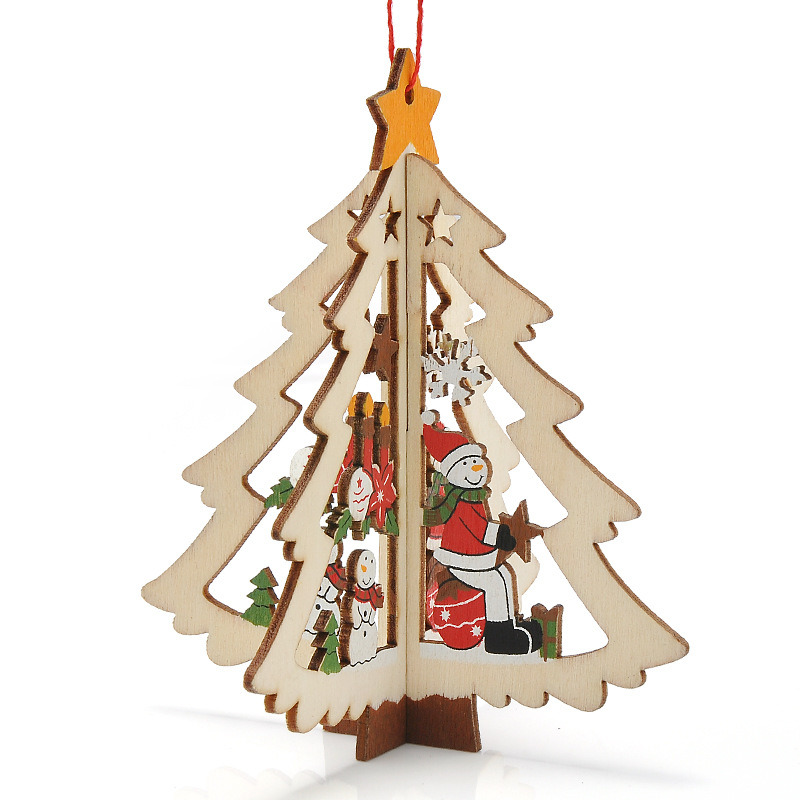 3D de la decoración de Navidad de madera nueva y creativa del árbol ...
