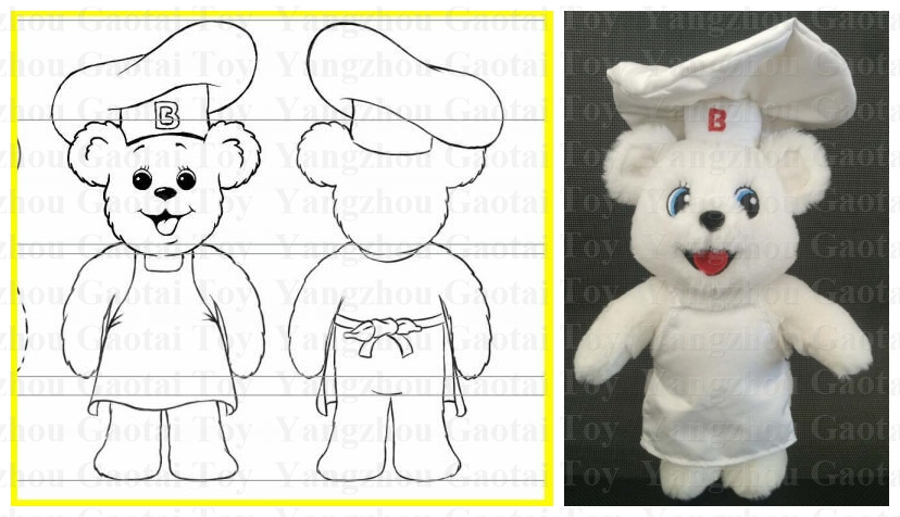 00d73fa3385 Customized Design White Color Plush Teddy Bear Toy Soft Bear Baby ...