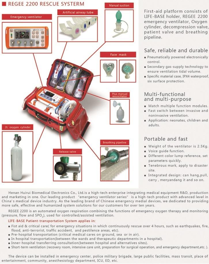 High Class Rescue Emergency Ventilator (MCV-2200)