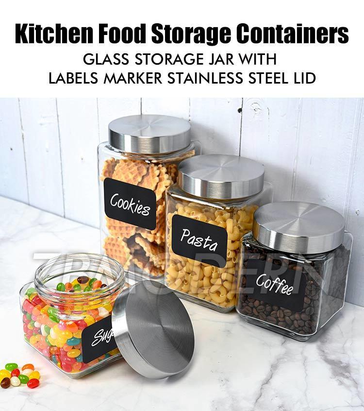 4 Pcs Kitchen Airtight Food Storage, Airtight Food Storage Container