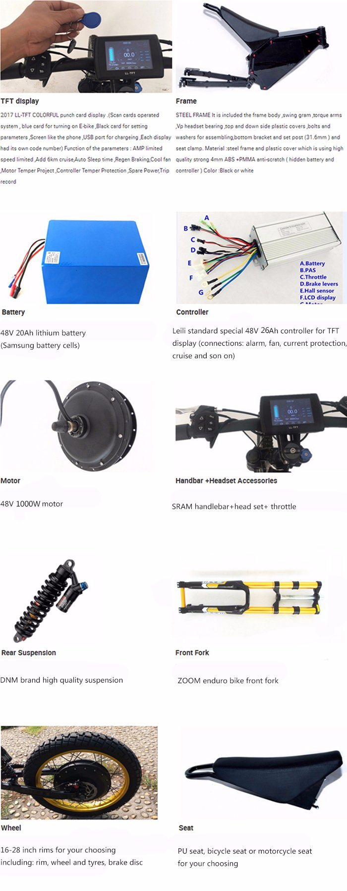 chinese v lo lectrique avec batterie 48v 20ah 1000w 2 roues moteur chinese v lo lectrique. Black Bedroom Furniture Sets. Home Design Ideas