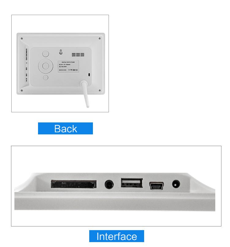 10 Inch Black / White Color USB SD Digital Photo Frame - China 10 ...