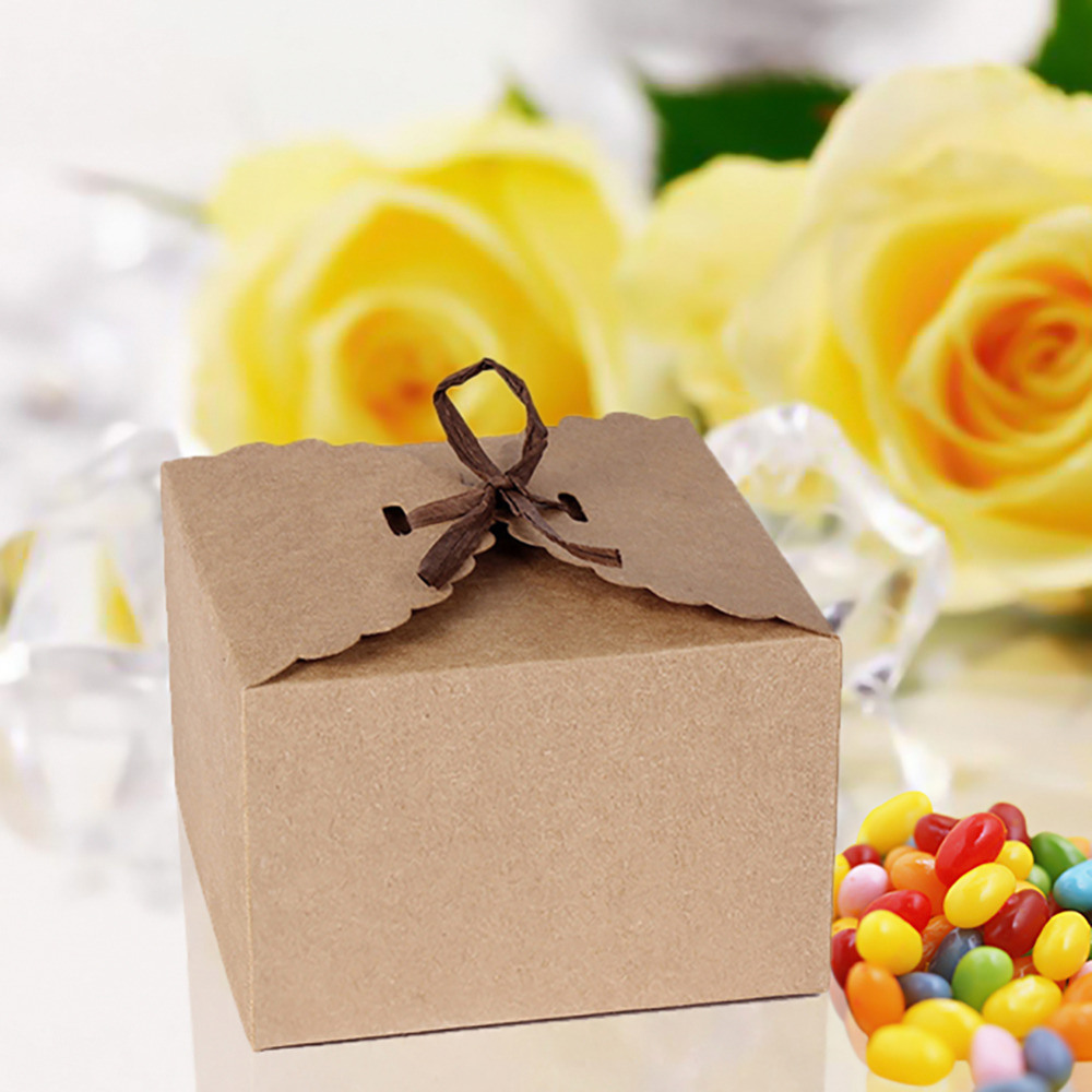 Retro Mini Kraft Paper Box DIY Wedding Gift Favor Boxes Party Candy ...