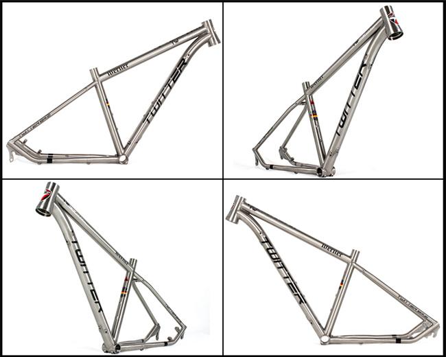 Full Suspension Titanium Alloy 26er Mountian Bicycle MTB Frame 27.5 ...