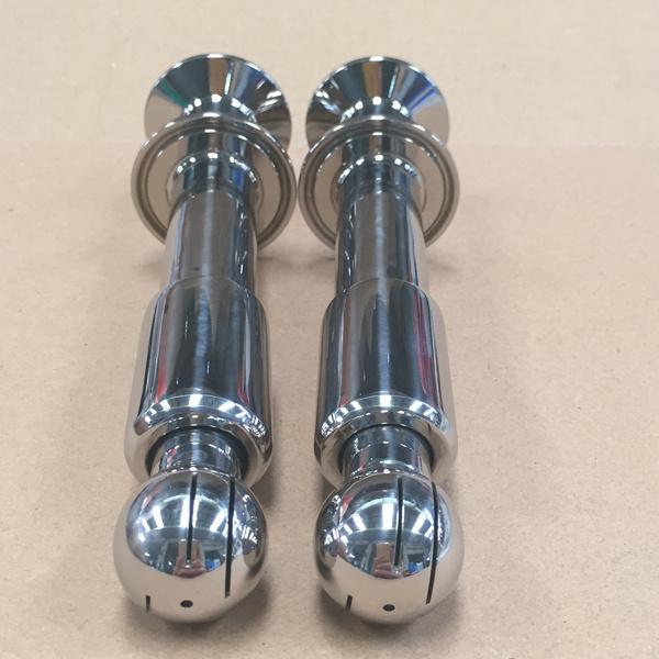 Braçadeira dupla cabeça de pulverização rotativo para